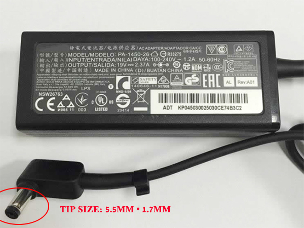 Adapter for ACER Aspire One 722 AO722 EX2519-C62F Z1401-C2XW