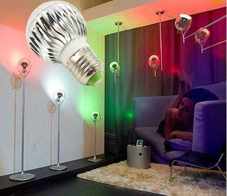 8W </p> <p>E27 Advertisement RGB LED Light Remote Lamp Bulbs